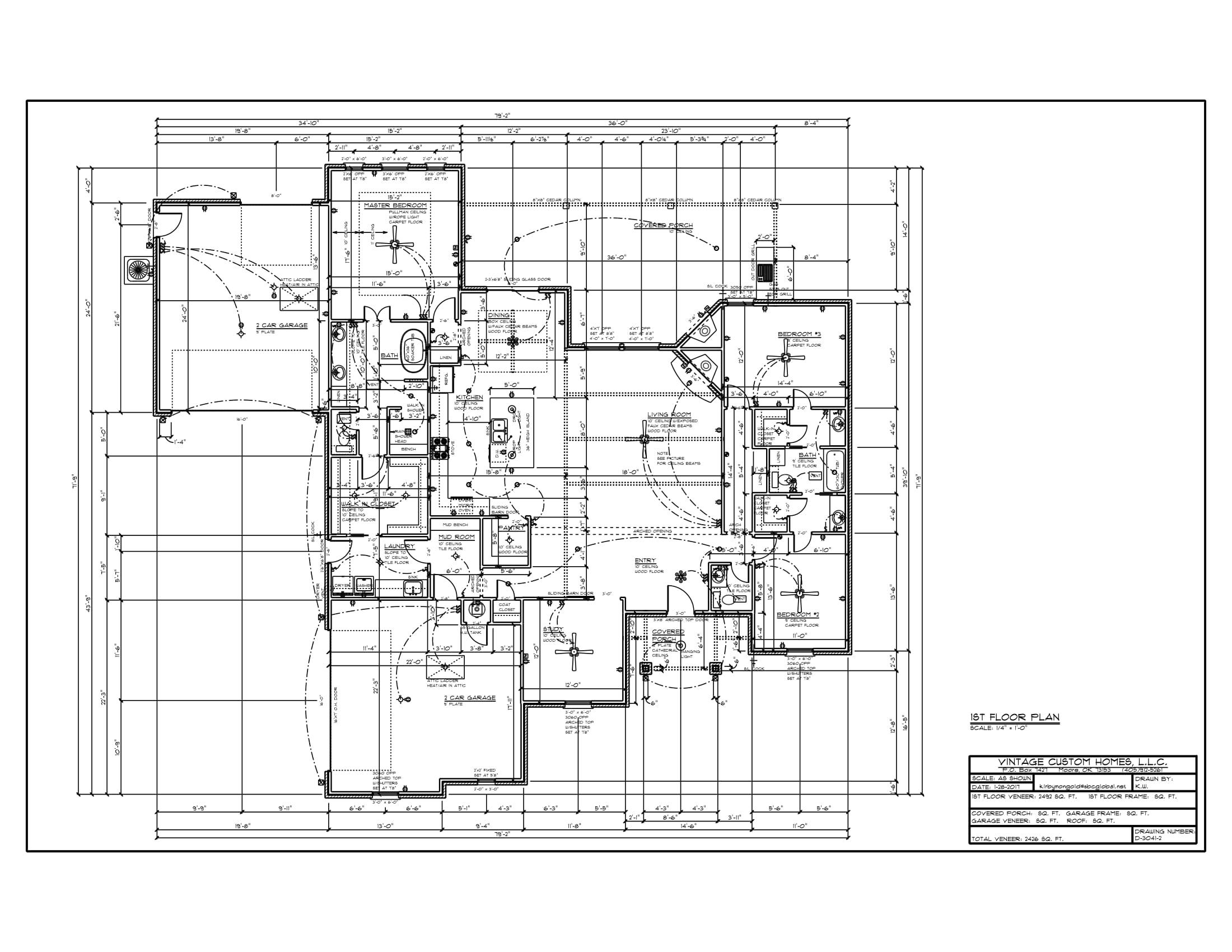 Floor Plan D-3041-2 2426 sqft