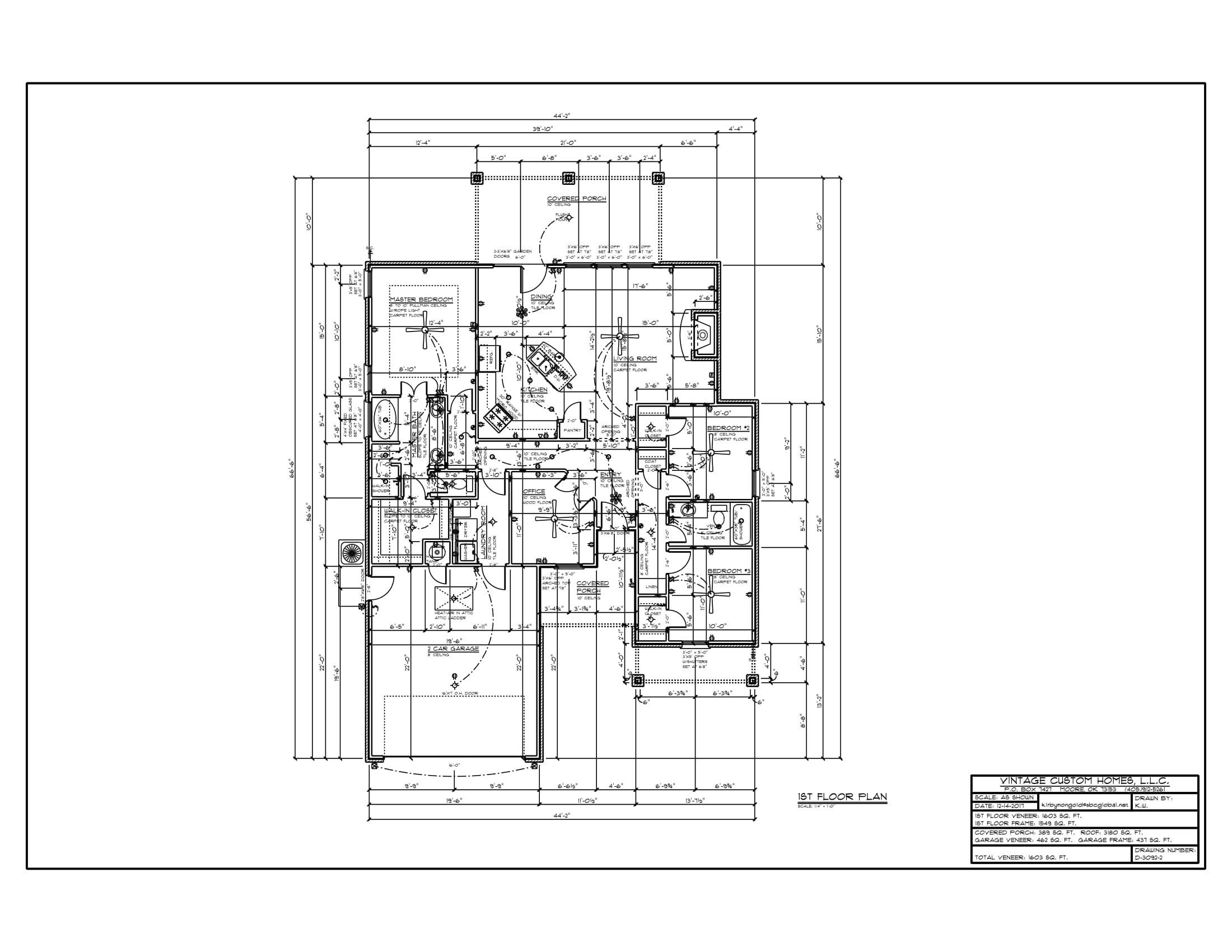 Floor Plan # D-3092-2 1603 sqft