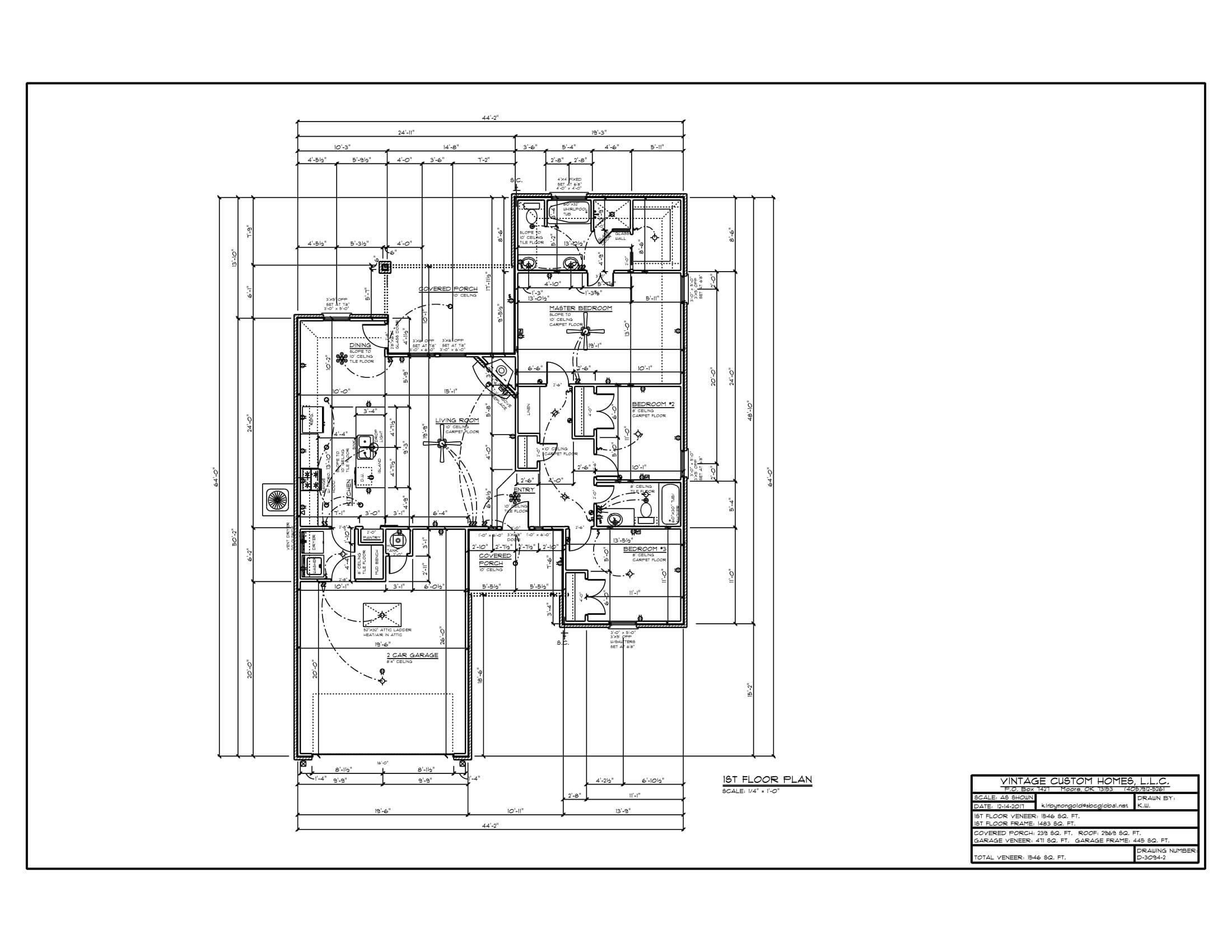 Floor Plan # D-3094-2 1546 sqft