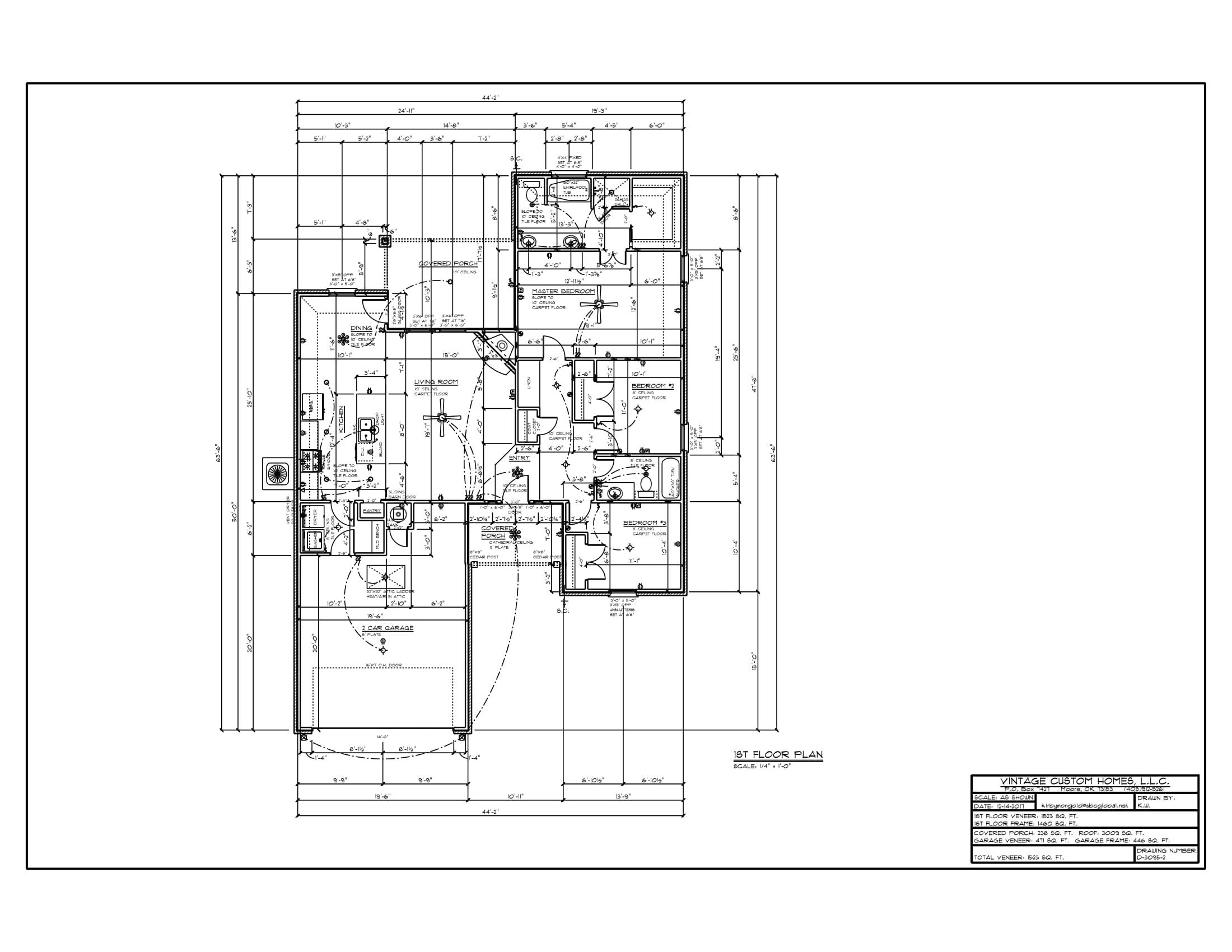 Floor Plan # D-3095-2 1523 sqft