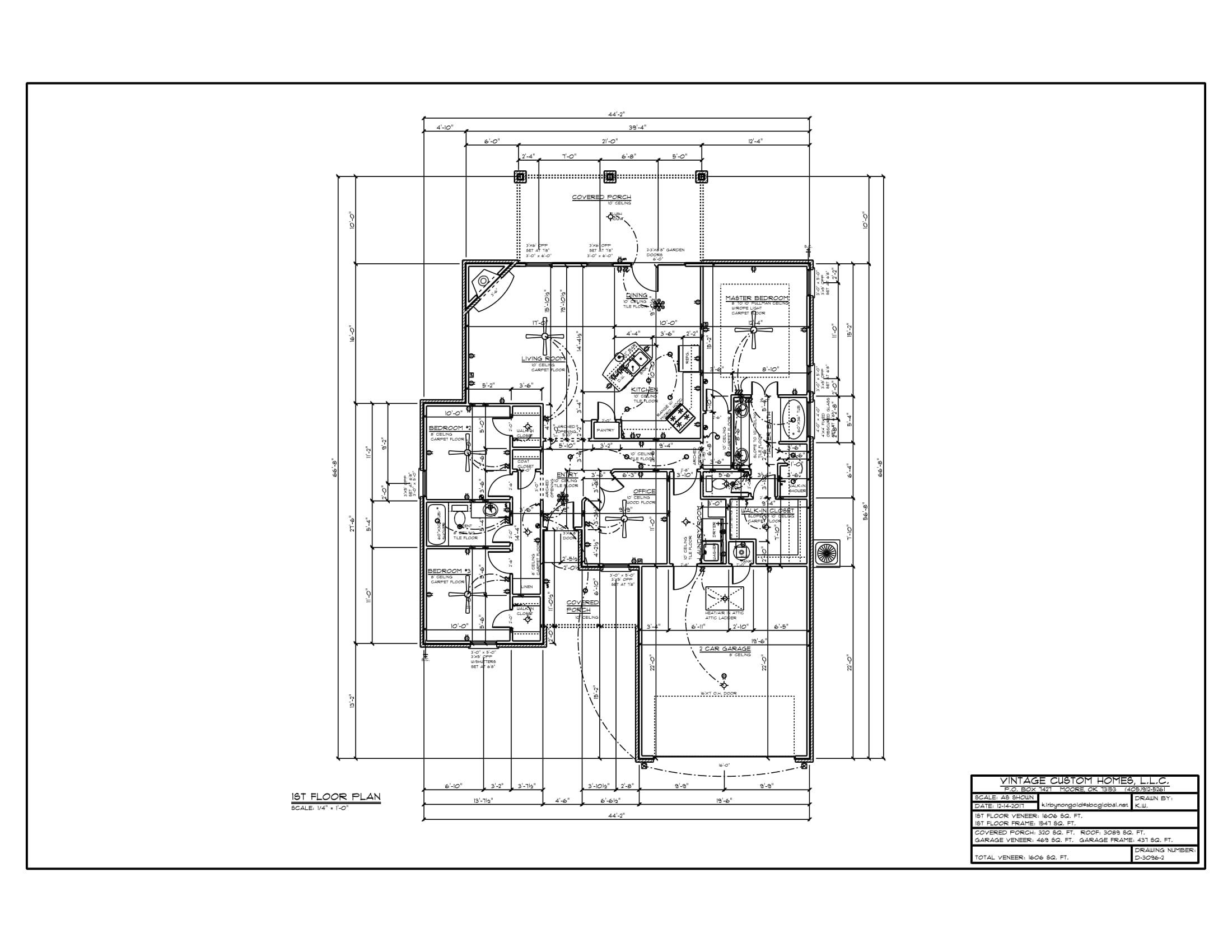 Floor Plan # D-3096-2 1606 sqft