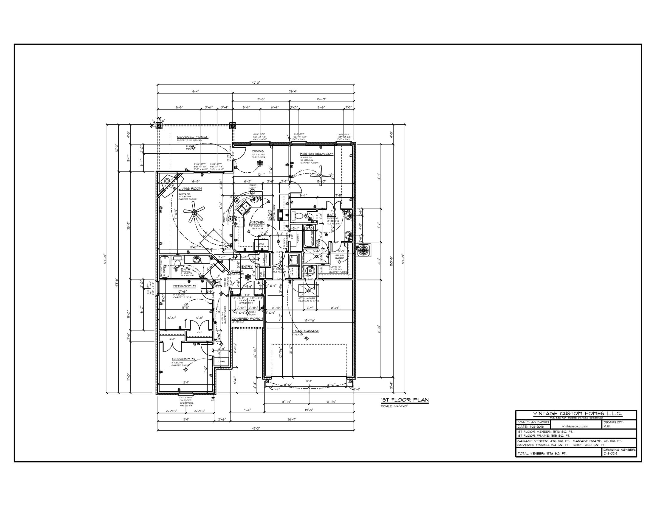Floor Plan # D-3102-2 1576 sqft