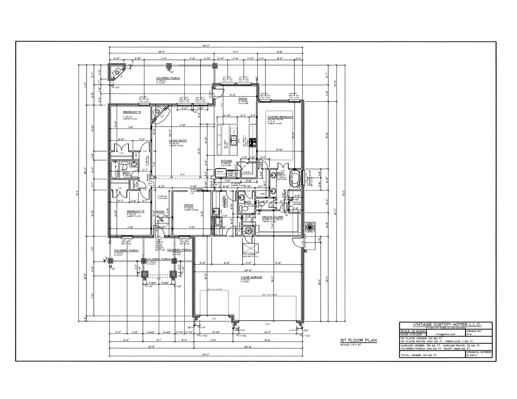 Floor Plan D-3124-2 2131 sqft
