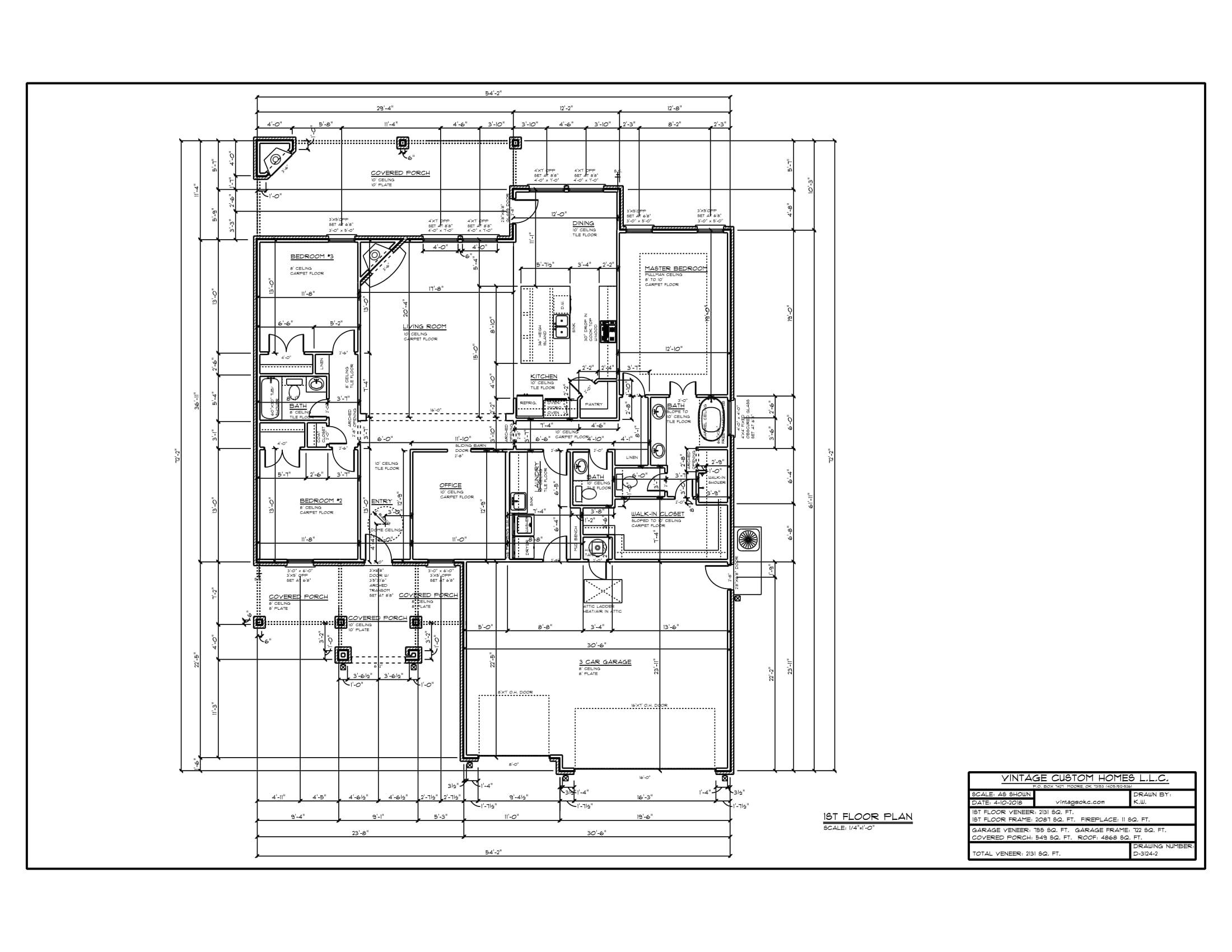 Floor Plan # D-3124-2 2131 sqft