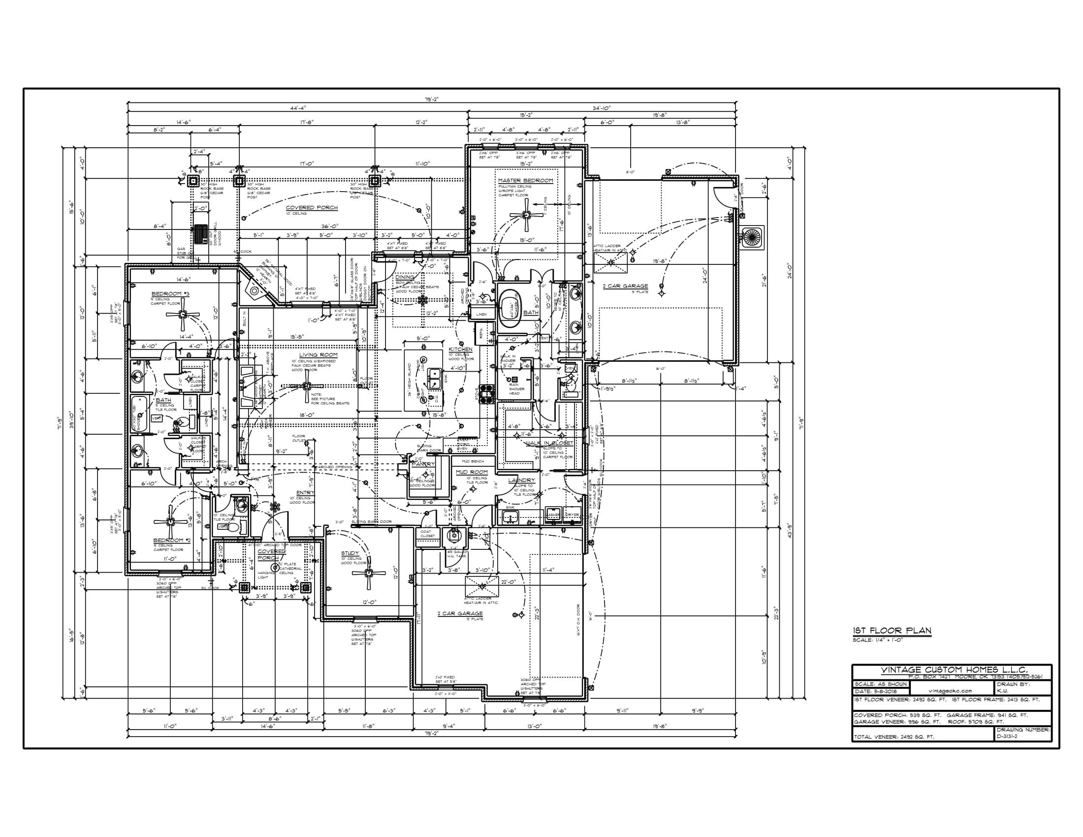 Floor Plan D-3131-2 2492 sqft