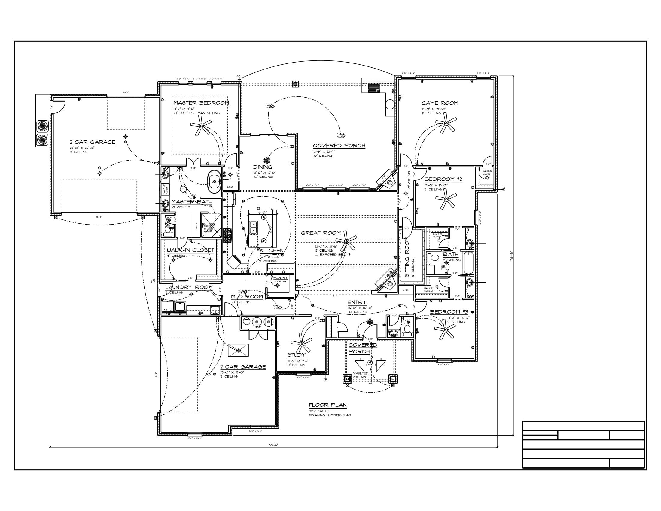 Floor Plan #D-3140 3299 sqft