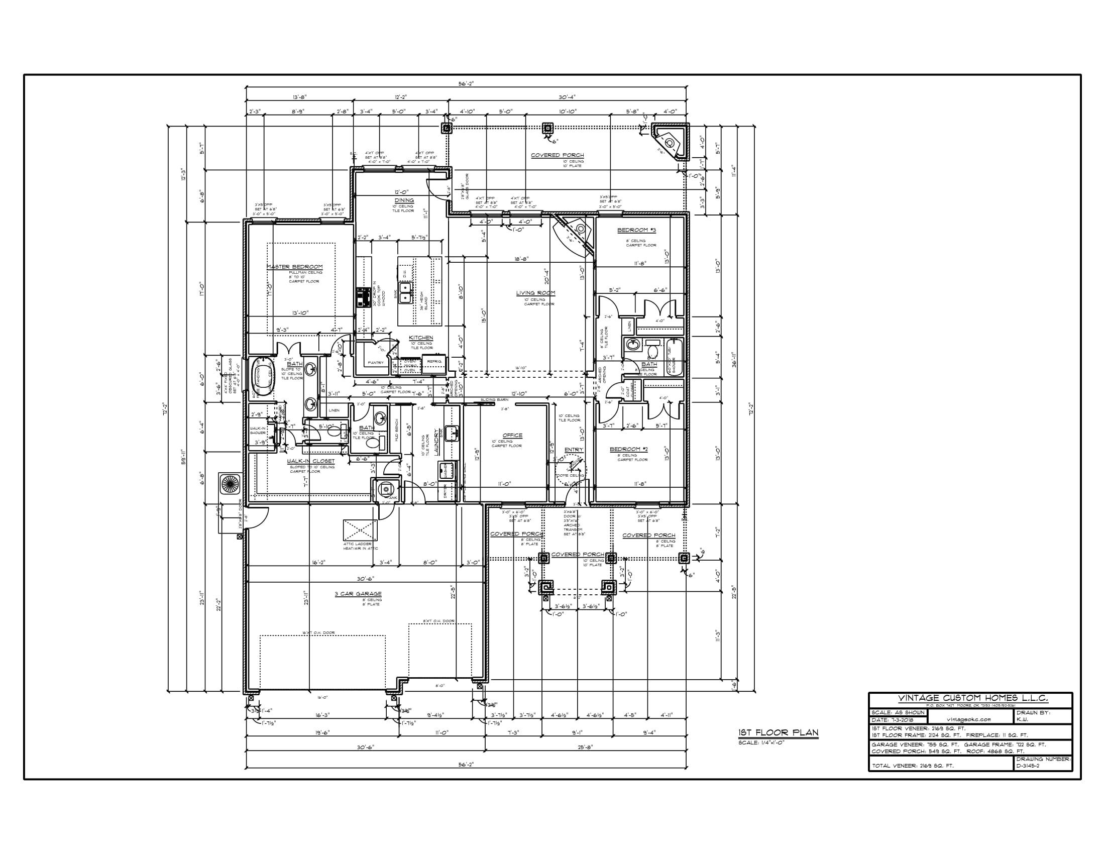 Floor Plan # D-3145-2 2169 sqft