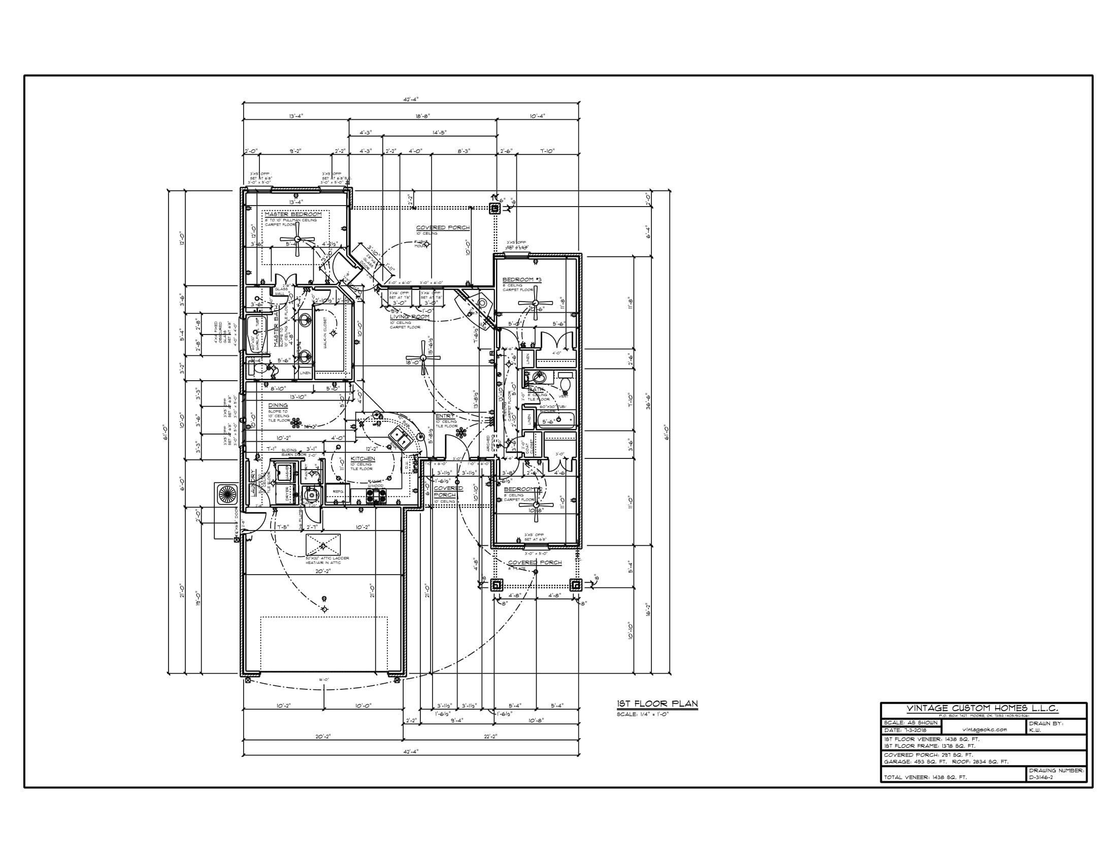 Floor Plan # D-3146-2 1438 sqft