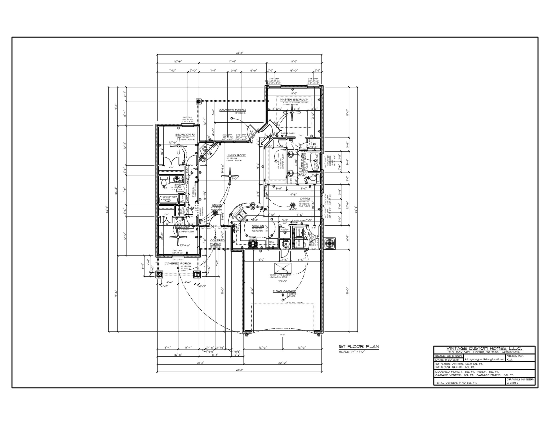 Floor Plan # D-3159-2 1440 sqft