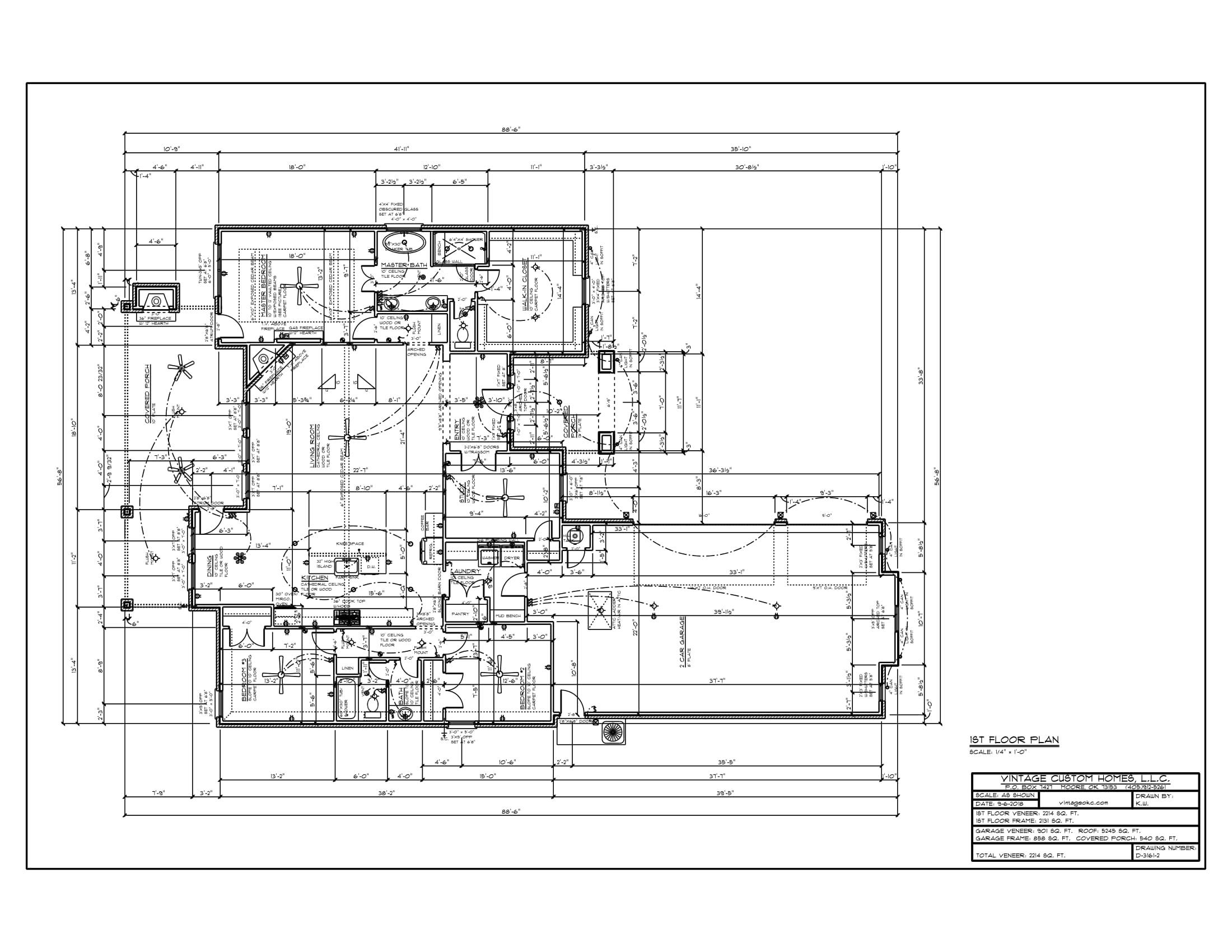 Floor Plan # D-3161-2 2214 sqft