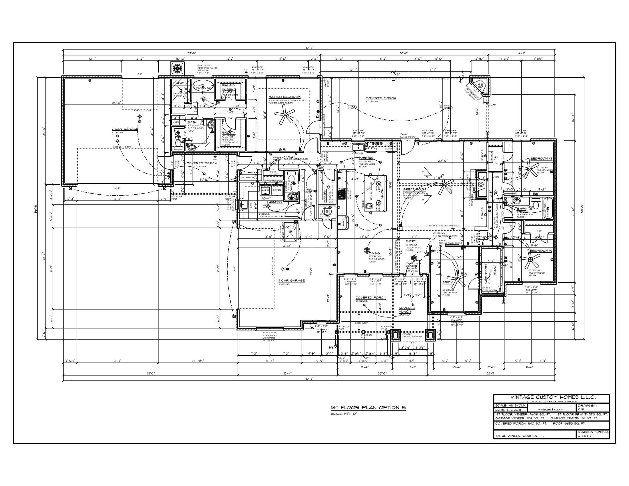 Floor Plan D-3165 2608 sqft