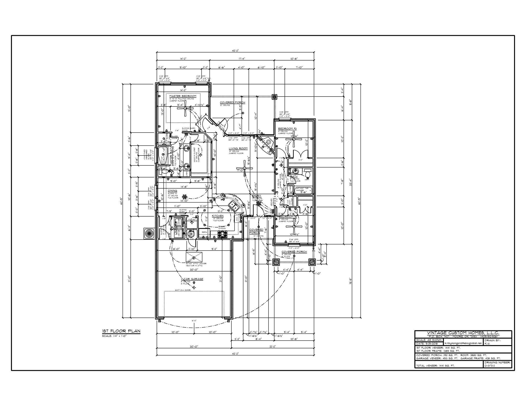 Floor Plan # D-3172-2 1441 sqft