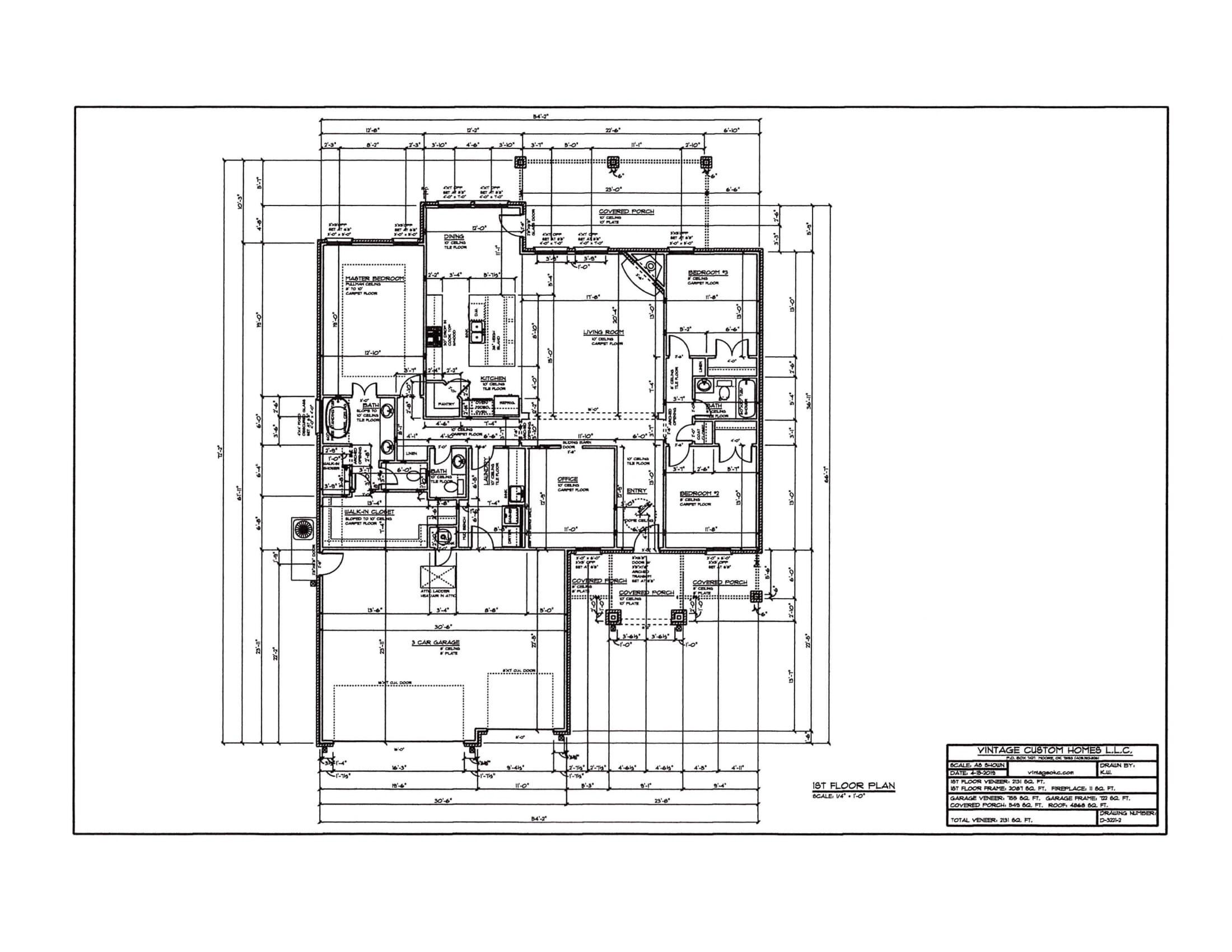 Floor Plan # D-3221-2 2131 sqft