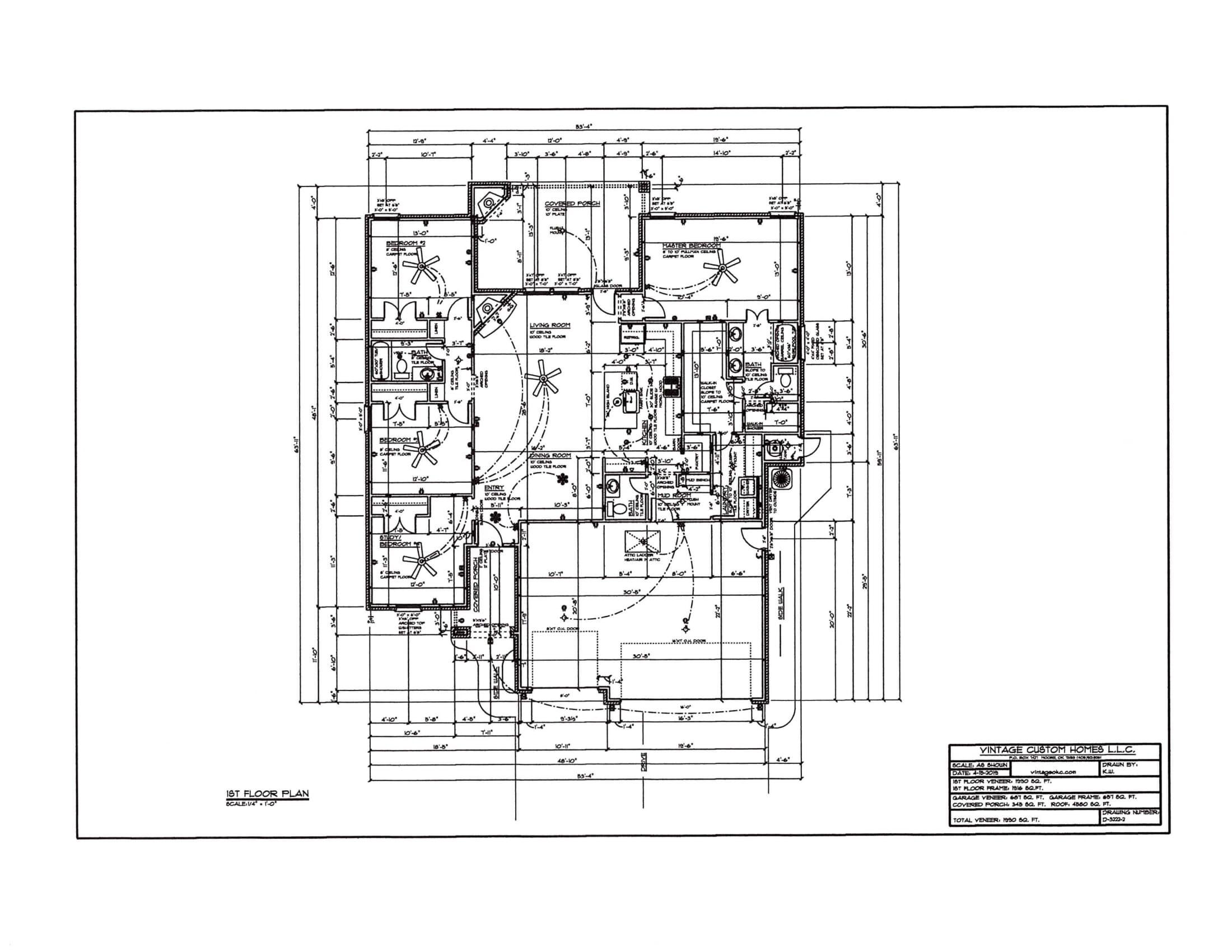 Floor Plan # D-3222-2 1990 sqft
