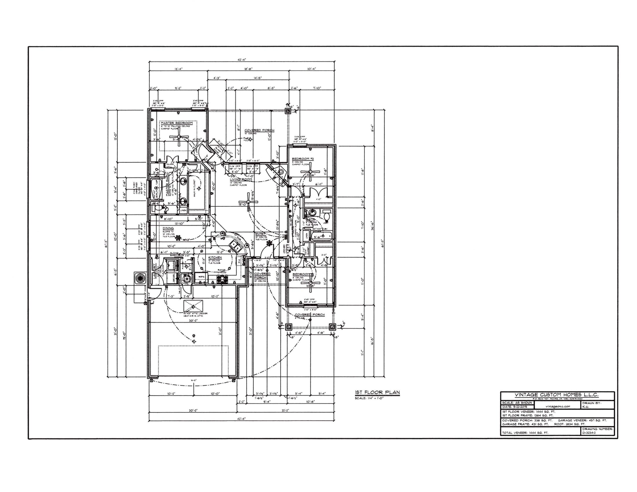 Floor Plan # D-3234-2 1444 sqft