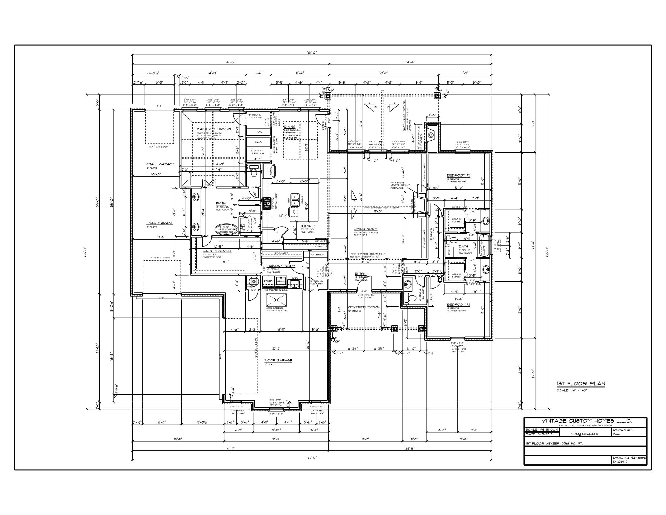 Floor Plan # D-3239-2 2298 sqft