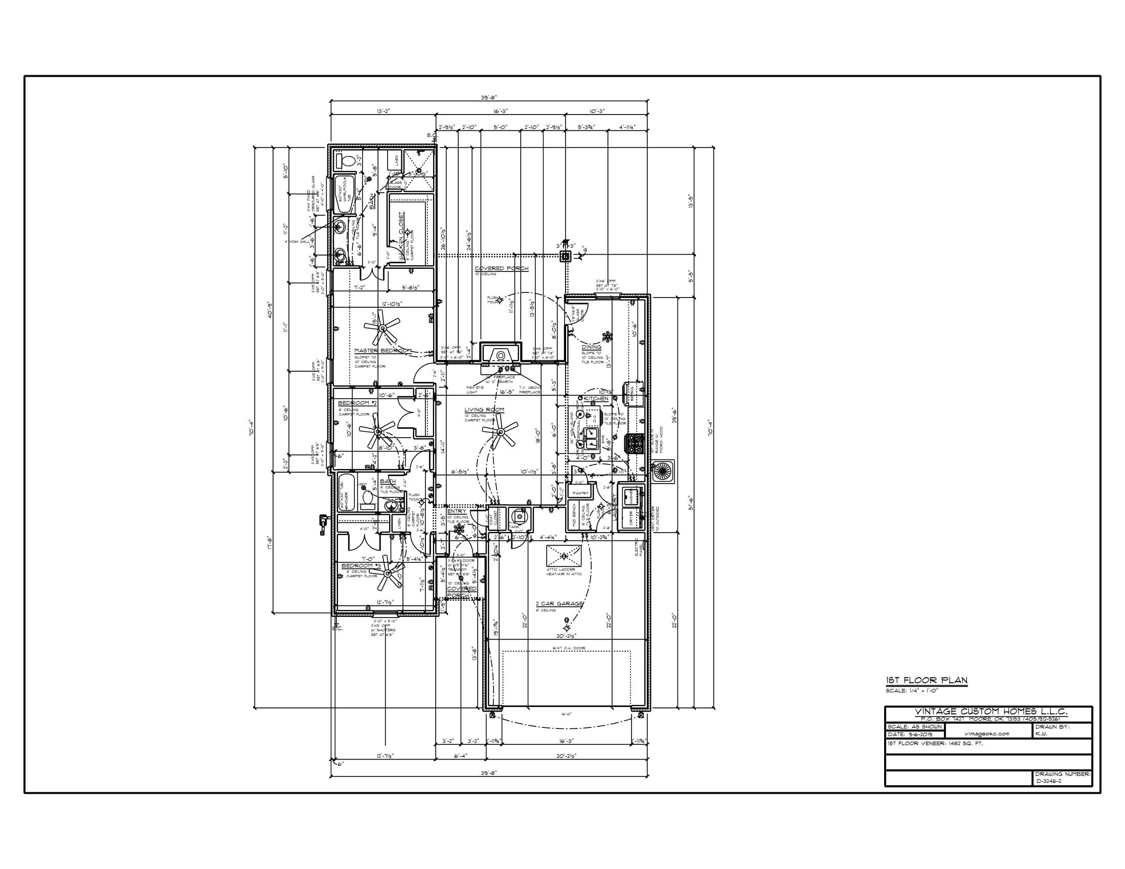 Floor Plan # D-3246-2 1482 sqft