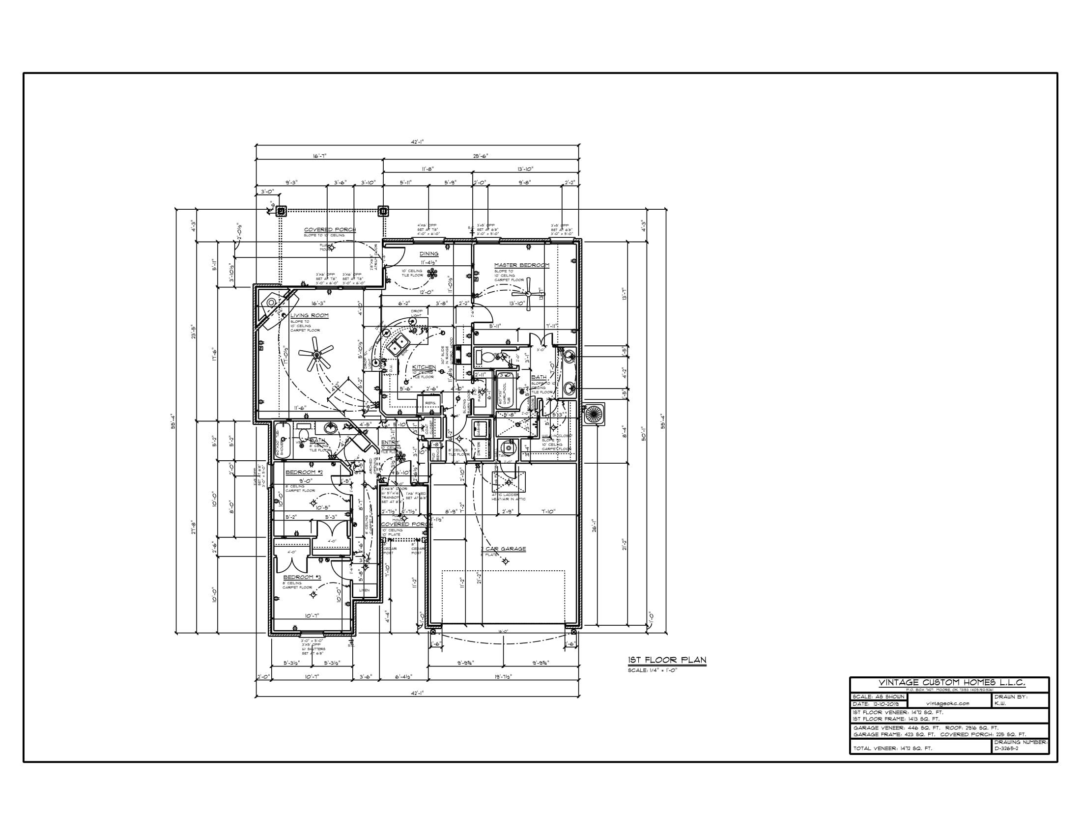 Floor Plan # D-3265-2 1472 sqft
