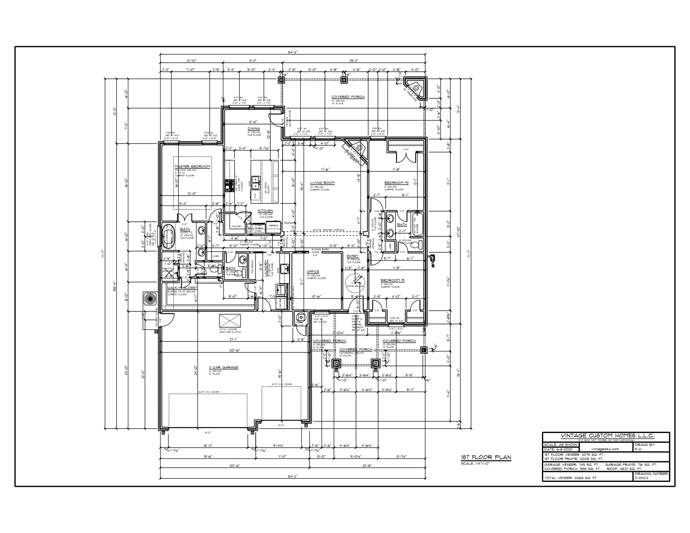 Floor Plan D-3312-2 2065 sqft