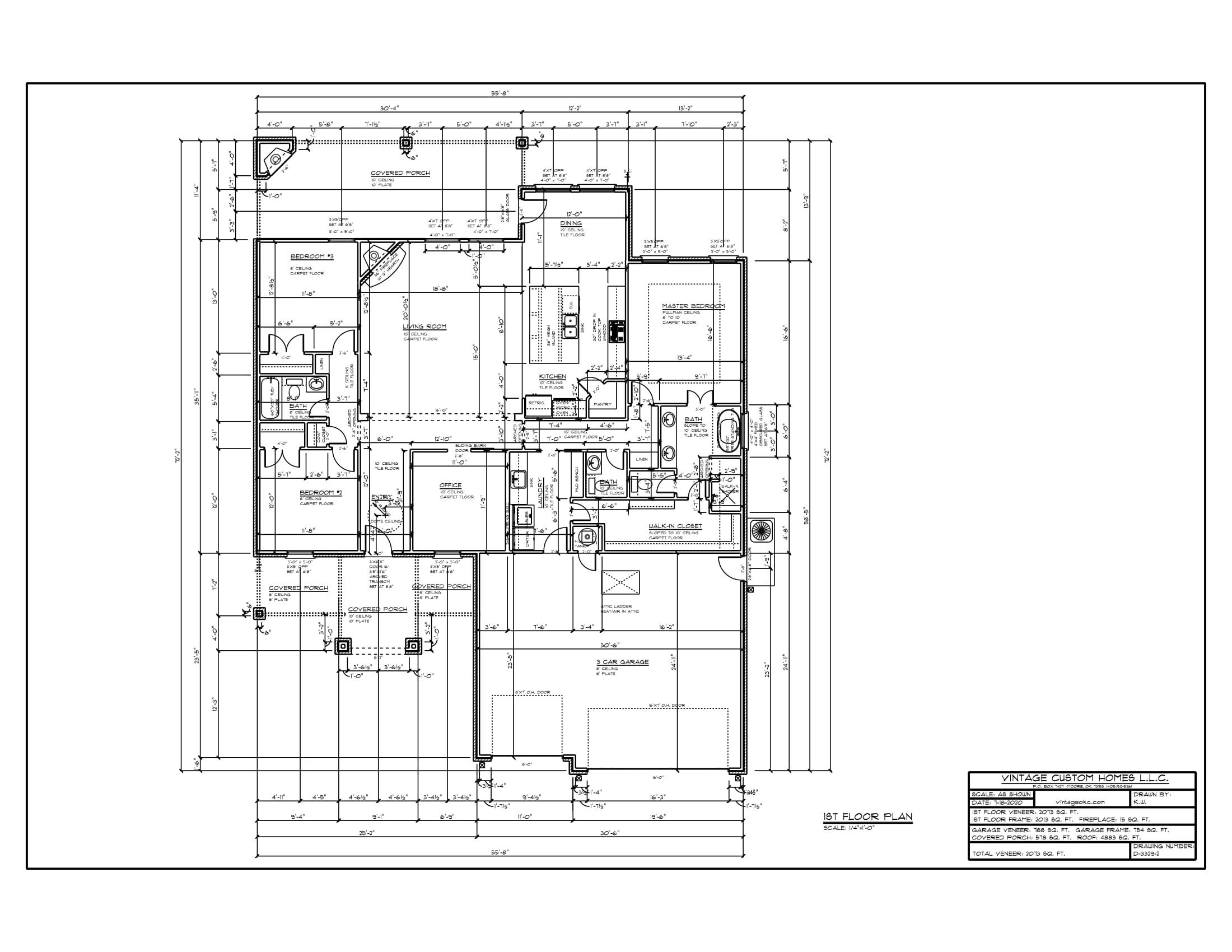 Floor Plan # D-3329-2 2073 sqft