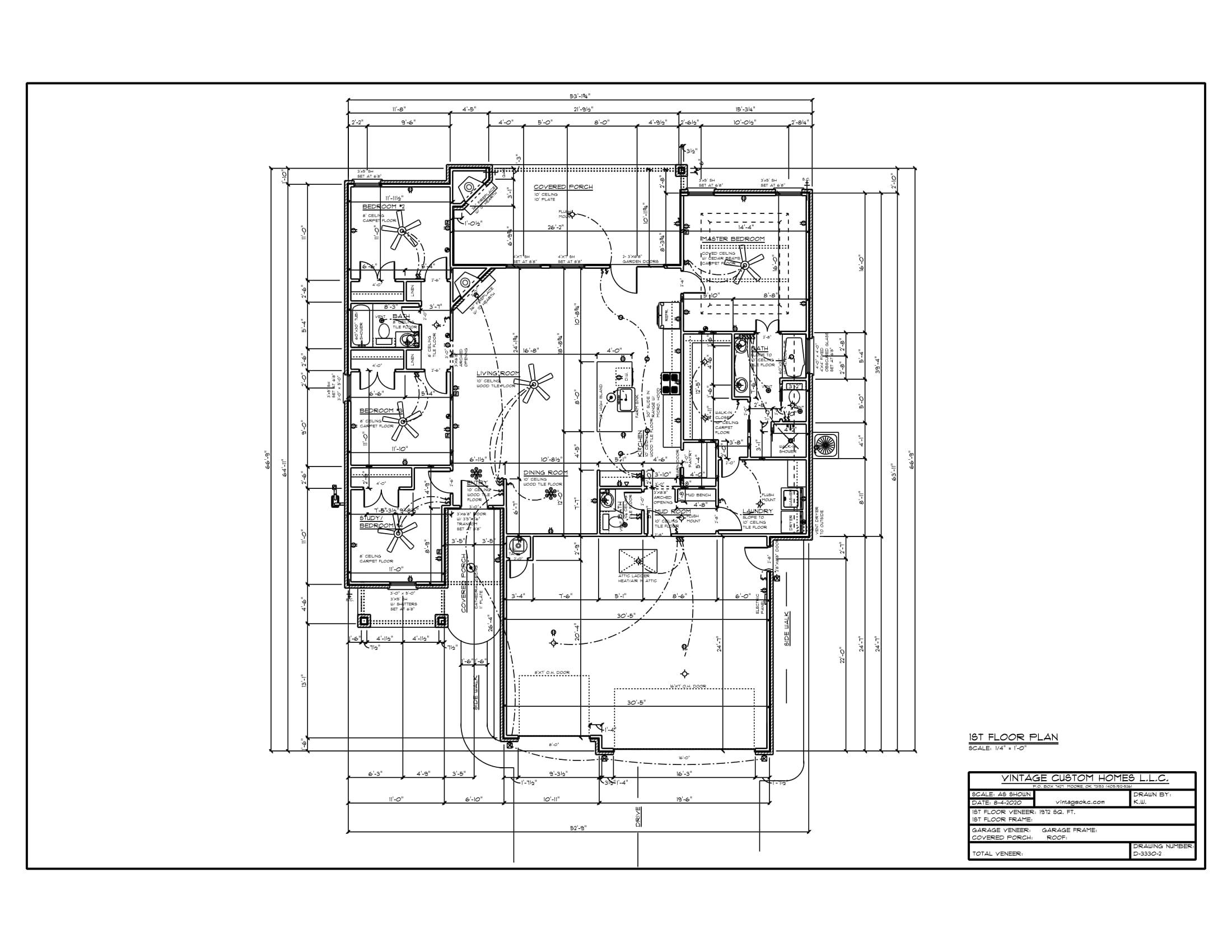 Floor Plan # D-3330-2 1972 sqft